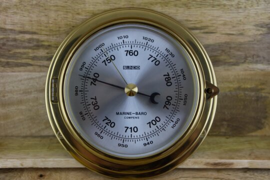 Marine-Baro Compens  Barometer/ Messing/ Bullauge)
