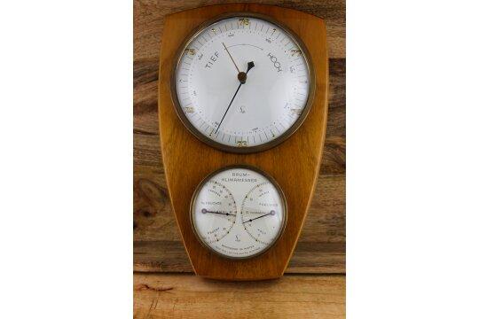 Sehr schöne Wetterstation (Holz)/ Barometer / Raumklima (Luftfeuchte & Thermometer)