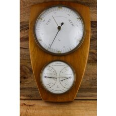 Sehr schöne Wetterstation (Holz)/ Barometer /...