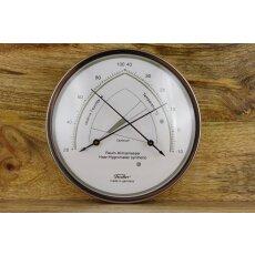 Raum-Klimamesser Edelstahl  Haar-Hygrometer synthetic
