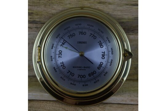 Marine-Baro Compens (Barometer/ Messing/ Bullauge)